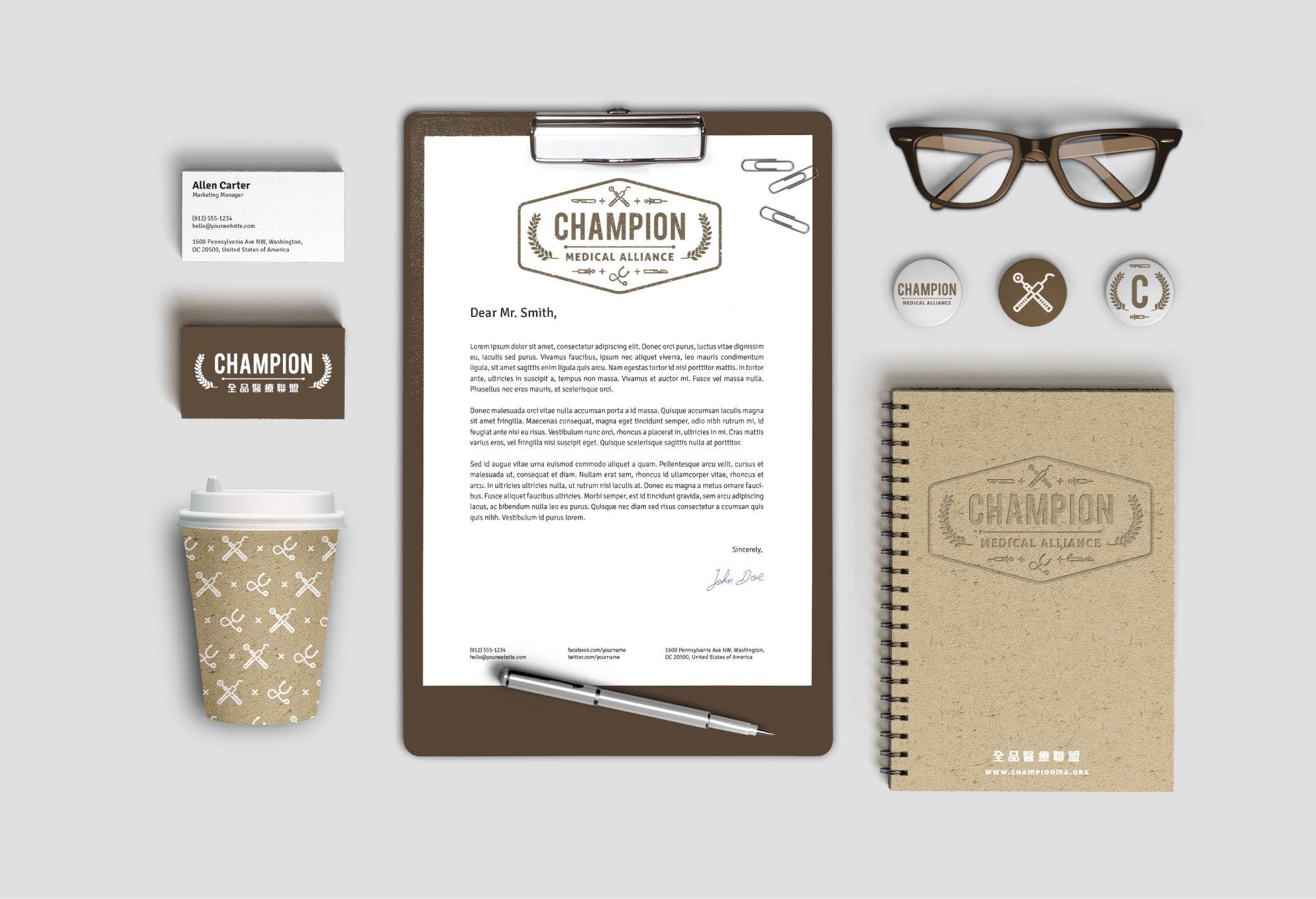 三名治-專案-品牌設計-全品醫療聯盟-延伸製作物
