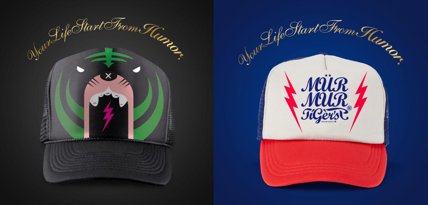 三名治-專案-商品視覺-MURMUR-TIGER-帽子圖案設計