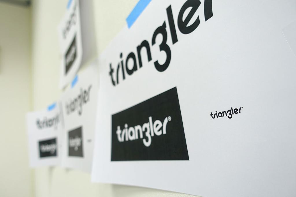triangler的商標就是我們的第一個專案啦!