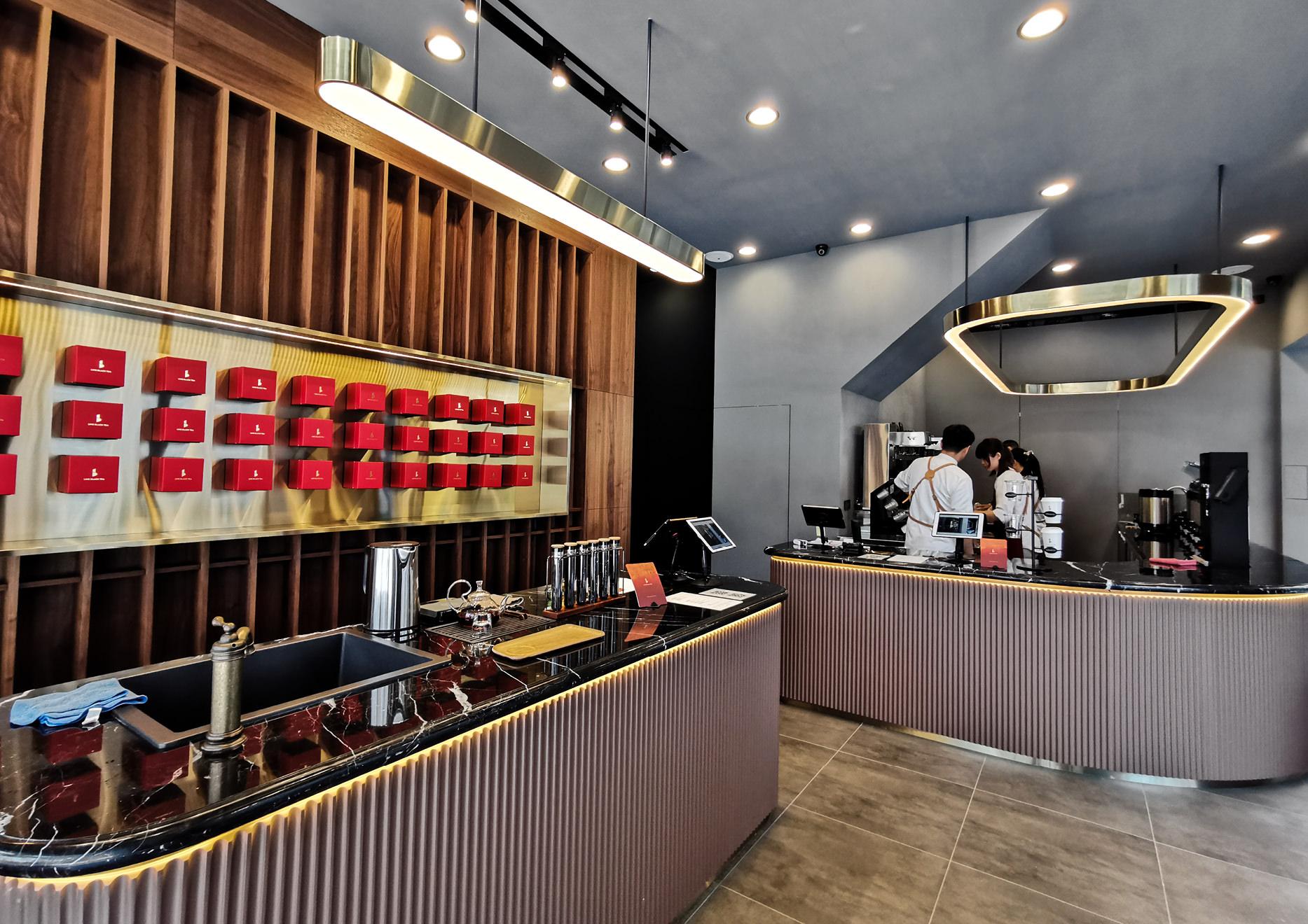 tea shop interior